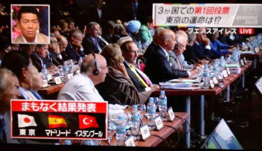 2020年 オリンピック開催地 第1回投票 東京1位通過!