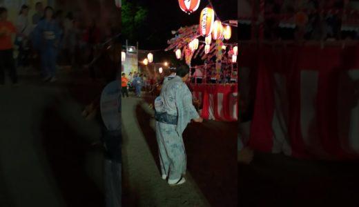 盆踊り:覚えたての東京オリンピック2020をなんとか踊る、高ヶ坂第一町内会2019.08.03