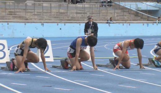 第50回ジュニアオリンピック(Junior Olympics) A女子100mハードル チャレンジ2組