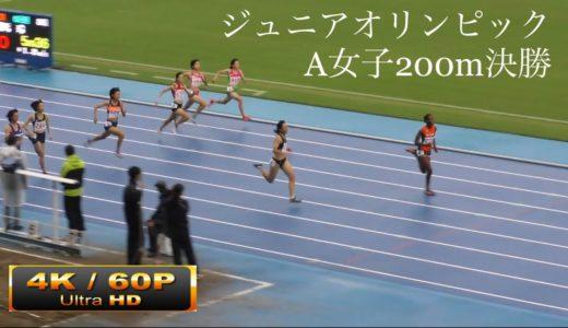A女子200m決勝 日本中学新記録ハッサンナワール ジュニアオリンピックR01