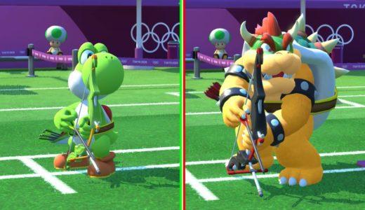 (延期になっても)マリオ&ソニック AT 東京2020オリンピック – ワンマッチ 「アーチェリー」