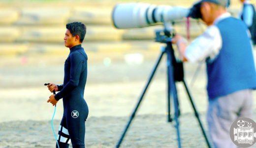 オリンピック会場で小波のサーフセッション