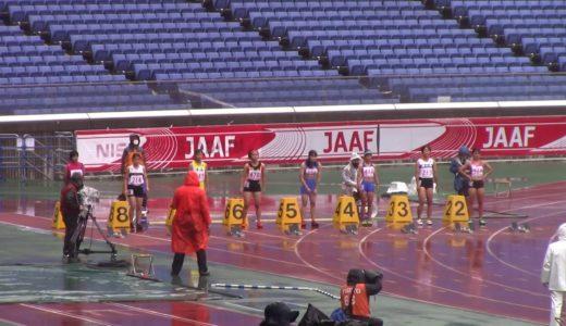 2020全中陸上 女子100m予選