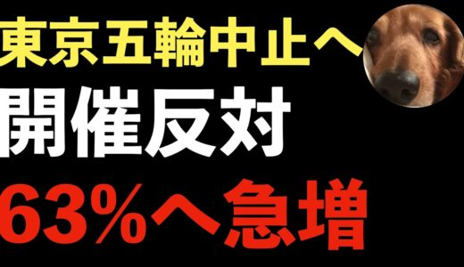 オリンピック中止へ!国民の63%が東京五輪開催について反対!無計画な政府!
